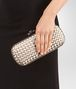 BOTTEGA VENETA MINK INTRECCIATO IMPERO STRETCH KNOT Clutch Woman ap