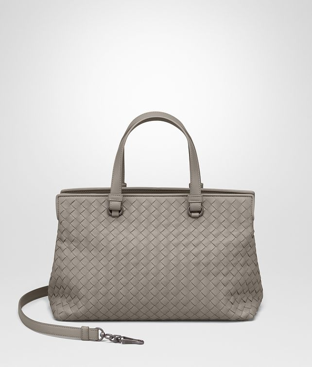 BOTTEGA VENETA TOP HANDLE BAG IN FUME' INTRECCIATO NAPPA Top Handle Bag Woman fp