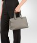 BOTTEGA VENETA TOP HANDLE BAG IN FUME' INTRECCIATO NAPPA Top Handle Bag Woman ap