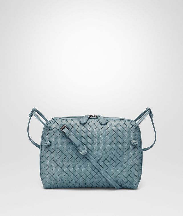 50244f81aa Bottega Veneta® - MESSENGER BAG IN AIR FORCE BLUE ...