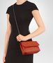 BOTTEGA VENETA BABY OLIMPIA BAG IN GERANIUM INTRECCIATO NAPPA Shoulder Bag Woman ap