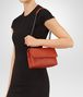 BOTTEGA VENETA BABY OLIMPIA BAG IN GERANIUM INTRECCIATO NAPPA Shoulder Bags Woman lp