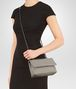 BOTTEGA VENETA BABY OLIMPIA BAG IN FUME' INTRECCIATO NAPPA Shoulder or hobo bag Woman ap