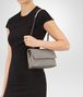BOTTEGA VENETA BABY OLIMPIA BAG IN FUME' INTRECCIATO NAPPA Shoulder or hobo bag Woman lp