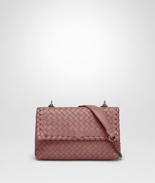 BABY OLIMPIA BAG IN DUSTY ROSE INTRECCIATO NAPPA