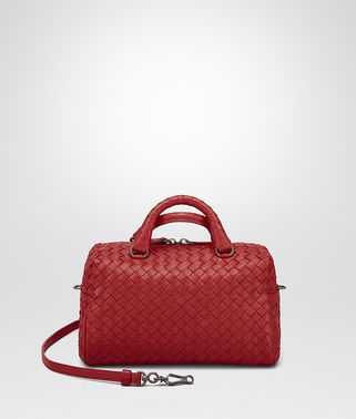 TOP HANDLE BAG IN CHINA RED INTRECCIATO NAPPA