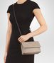 BOTTEGA VENETA BABY OLIMPIA BAG IN MINK INTRECCIATO NAPPA Shoulder Bag Woman ap