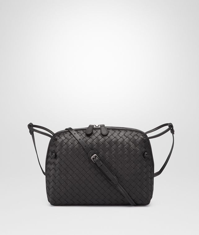 6a6c2b5369 BOTTEGA VENETA NERO INTRECCIATO NAPPA LEATHER NODINI BAG Crossbody and Belt  Bags