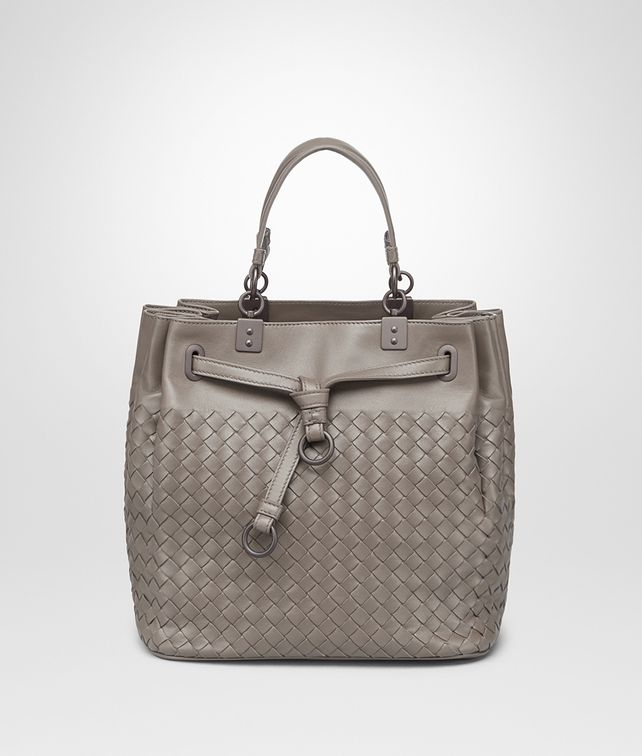 9e352345da22 BOTTEGA VENETA STEEL INTRECCIATO NAPPA LEATHER BUCKET BAG Crossbody and  Belt Bags