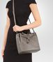 BOTTEGA VENETA STEEL INTRECCIATO NAPPA LEATHER BUCKET BAG Crossbody bag D ap