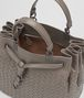 BOTTEGA VENETA STEEL INTRECCIATO NAPPA LEATHER BUCKET BAG Crossbody bag Woman dp