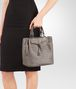 BOTTEGA VENETA STEEL INTRECCIATO NAPPA LEATHER BUCKET BAG Crossbody bag Woman lp