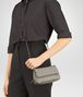 BOTTEGA VENETA MESSENGER BAG IN FUME' INTRECCIATO NAPPA Crossbody bag D ap