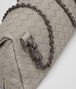 BOTTEGA VENETA MESSENGER BAG IN FUME' INTRECCIATO NAPPA Crossbody bag Woman ep