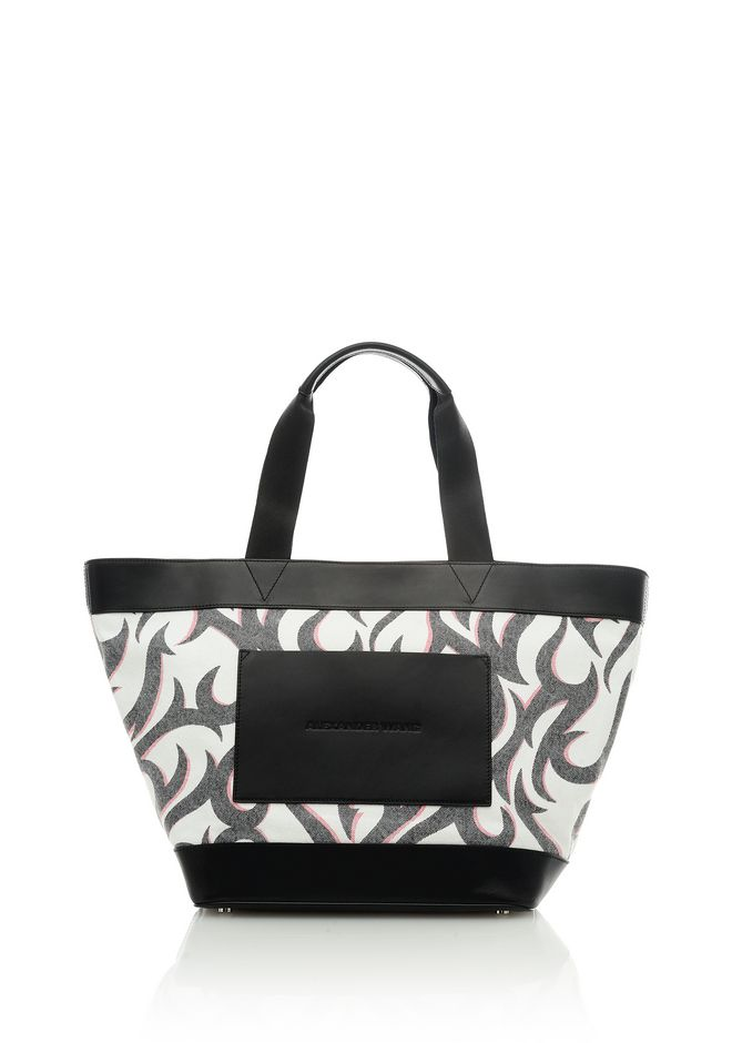 ALEXANDER WANG Shoulder bags Women BLEACHED DENIM TATTOO PRINT TOTE BAG
