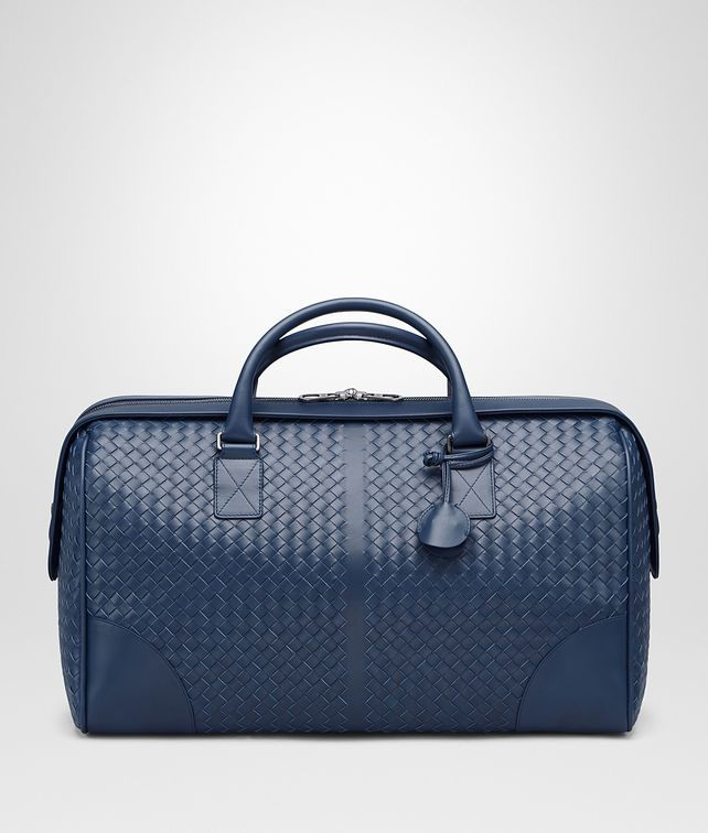 BOTTEGA VENETA MEDIUM DUFFLE BAG IN PACIFIC INTRECCIATO VN Luggage E fp