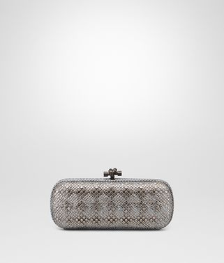 STRETCH KNOT CLUTCH IN AIR FORCE BLUE AYERS, METAL STUDS DETAILS