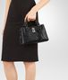 BOTTEGA VENETA MINI ROMA BAG IN NERO INTRECCIATO CALF Top Handle Bag D ap