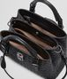 BOTTEGA VENETA MINI ROMA BAG IN NERO INTRECCIATO CALF Top Handle Bag D dp
