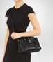 BOTTEGA VENETA MINI ROMA BAG IN NERO INTRECCIATO CALF Top Handle Bag D lp