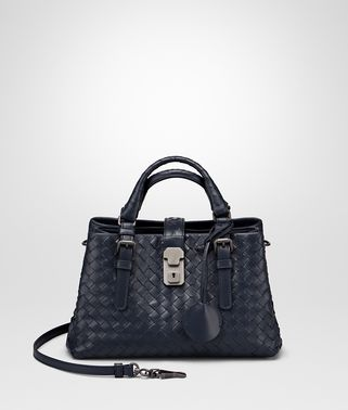 MINI ROMA BAG IN PRUSSE INTRECCIATO CALF LEATHER