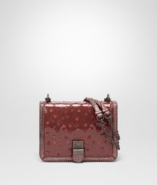 SHOULDER BAG IN PETRA NEW EMBROIDERED PATENT LEATHER, AYERS DETAILS