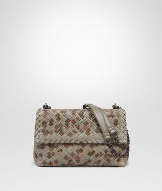OLIMPIA BAG IN FUME' EMBROIDERED INTRECCIATO NAPPA