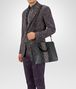 BOTTEGA VENETA BRIEFCASE IN ARDOISE INTRECCIATO NAPPA GRAFFITI CLUB LAMB LEATHER, EMBROIDERED DETAILS Business bag U lp