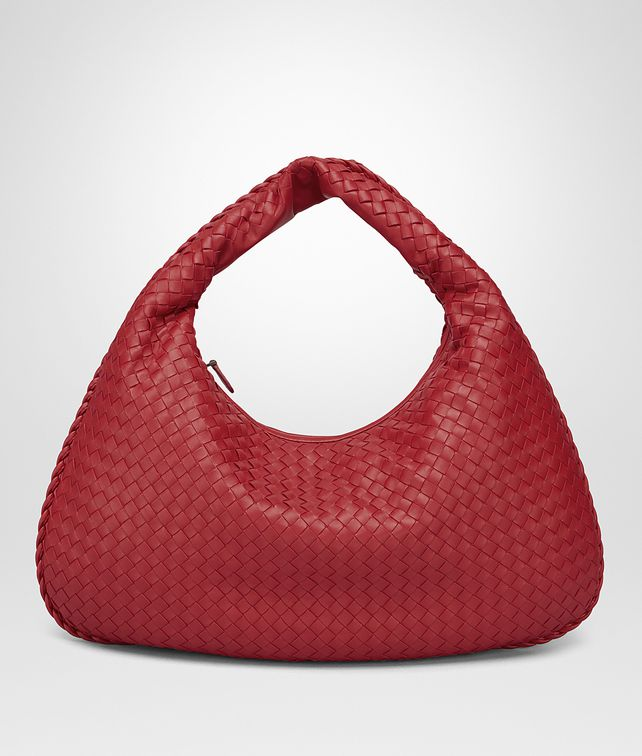 BOTTEGA VENETA CHINA RED INTRECCIATO NAPPA LARGE VENETA BAG Shoulder or hobo bag D fp