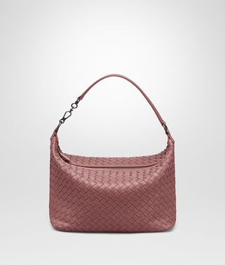 SHOULDER BAG IN DUSTY ROSE INTRECCIATO NAPPA