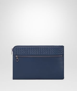 DOCUMENT CASE IN PACIFIC CALF LEATHER, INTRECCIATO DETAILS