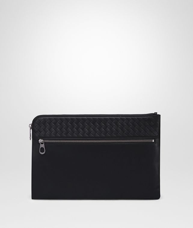 BOTTEGA VENETA DOCUMENT CASE IN NERO CALF, INTRECCIATO DETAILS Document case [*** pickupInStoreShippingNotGuaranteed_info ***] fp