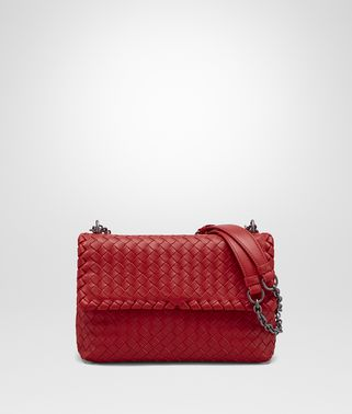 OLIMPIA BAG IN CHINA RED INTRECCIATO NAPPA