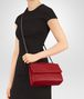 BOTTEGA VENETA OLIMPIA BAG IN CHINA RED INTRECCIATO NAPPA Shoulder or hobo bag Woman ap