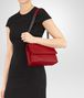 BOTTEGA VENETA OLIMPIA BAG IN CHINA RED INTRECCIATO NAPPA Shoulder or hobo bag Woman lp