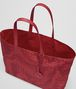 BOTTEGA VENETA BORSA SHOPPING MEDIA IN INTRECCIOLUSION CHINA RED Borsa a Mano D dp