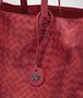 BOTTEGA VENETA CHINA RED INTRECCIOLUSION MEDIUM TOTE Top Handle Bag D ep