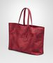 BOTTEGA VENETA CHINA RED INTRECCIOLUSION MEDIUM TOTE Top Handle Bag D rp