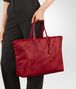BOTTEGA VENETA TOTE BAG IN CHINA RED INTRECCIOLUSION Top Handle Bag Woman ap
