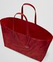 BOTTEGA VENETA TOTE BAG IN CHINA RED INTRECCIOLUSION Top Handle Bag D dp