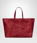 BOTTEGA VENETA TOTE BAG IN CHINA RED INTRECCIOLUSION Top Handle Bag Woman fp