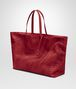 BOTTEGA VENETA TOTE BAG IN CHINA RED INTRECCIOLUSION Top Handle Bag Woman rp