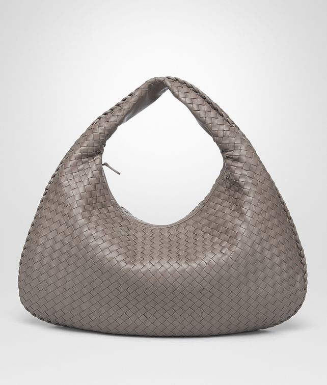 BOTTEGA VENETA STEEL INTRECCIATO NAPPA LARGE VENETA BAG Shoulder or hobo bag D fp