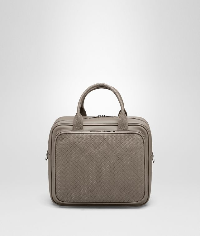 BOTTEGA VENETA TRAVEL BAG IN STEEL INTRECCIATO VN Luggage E fp