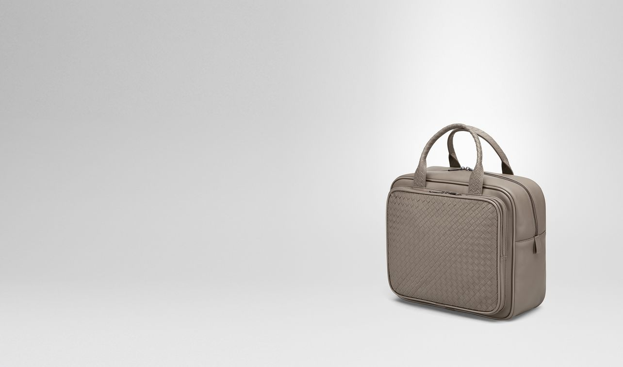 travel bag in steel intrecciato vn landing