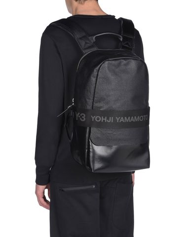 Y-3 QASA LEATHER BACKPACK バッグ メンズ Y-3 adidas