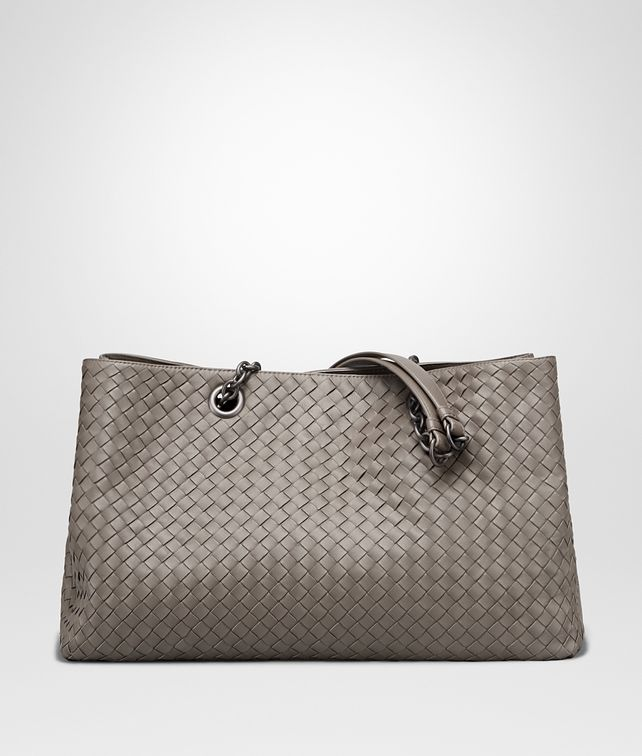 BOTTEGA VENETA TOTE BAG IN STEEL INTRECCIATO NAPPA Top Handle Bag Woman fp