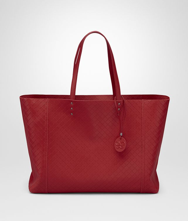 BOTTEGA VENETA CHINA RED INTRECCIATOMIRAGE MEDIUM TOTE Tote Bag D fp