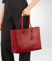 BOTTEGA VENETA CHINA RED INTRECCIATOMIRAGE MEDIUM TOTE Tote Bag D ap
