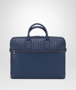 BRIEFCASE IN PACIFIC CALF LEATHER, INTRECCIATO DETAILS